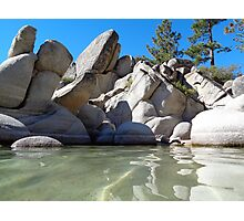 Granite Boulders and Clear Green Waters Photographic Print