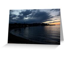 Sunset over Penguin. Greeting Card