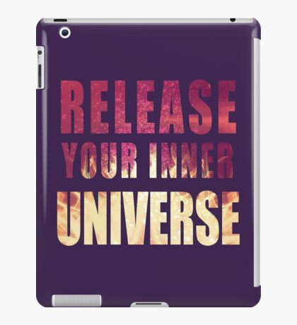 Picture-lettered Explosion slogan iPad Case/Skin