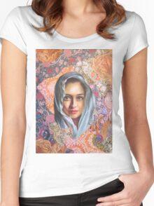 Golden Blue Women's Fitted Scoop T-Shirt