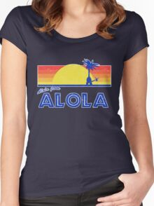 Pokemon Sun and Moon - Alola from Alola Women's Fitted Scoop T-Shirt