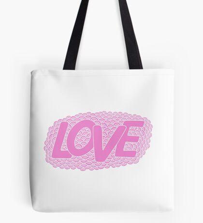 Love. Hand drawn pink doodle  illustration. Tote Bag