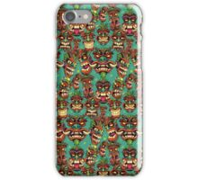 Tiki Head Repeating Pattern iPhone Case/Skin