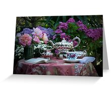 Tea in the afternoon Greeting Card