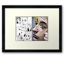Makeup & Art Framed Print
