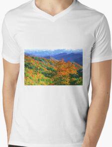 AUTUMN VALLEY Mens V-Neck T-Shirt