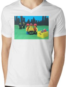 Cops Get No Love Mens V-Neck T-Shirt