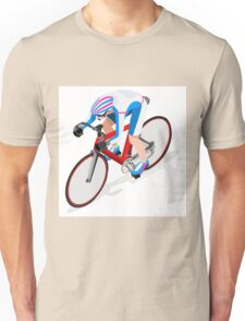 Cycling Track Sports 3D Isometric Unisex T-Shirt