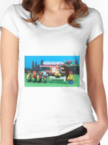 Happy Fireman Xmas Women's Fitted Scoop T-Shirt