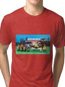 Happy Fireman Xmas Tri-blend T-Shirt