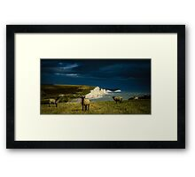 Four Sheep and Seven Sisters Framed Print