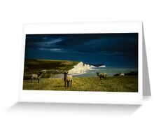 Four Sheep and Seven Sisters Greeting Card