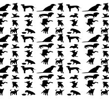 Dog Silhouettes Photographic Print