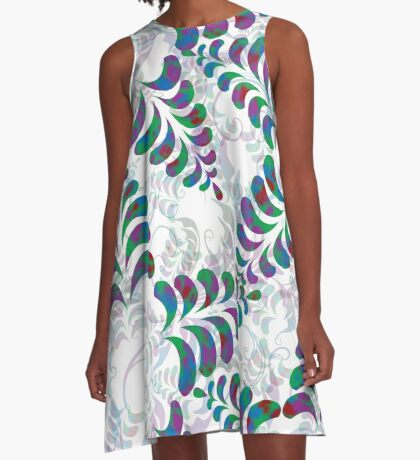 flower 4 A-Line Dress