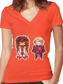 FE14 - RyouMarx Women's Fitted V-Neck T-Shirt