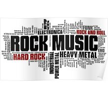 Rock Music Genres Poster