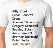 Tom Holland Characters List Unisex T-Shirt