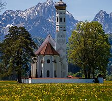 Baroque Church of Saint-Coloman, Bavaria, Germany by fotosic