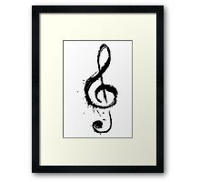 Cool Music Note Framed Print