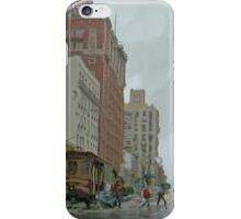California Street in the Rain iPhone Case/Skin
