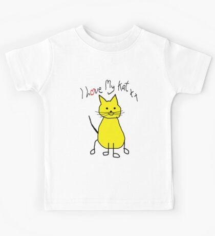 I Love My Kat. Cat Humor. Funny Cat shirt Kids Tee