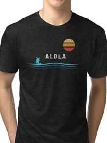 Pokemon Sun and Moon - Alolan Raichu Surfing Tri-blend T-Shirt