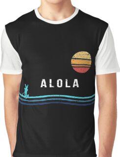 Pokemon Sun and Moon - Alolan Raichu Surfing Graphic T-Shirt