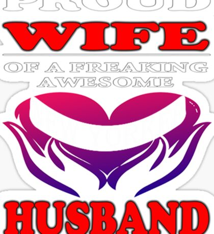 Awesome New Yorker Husband Sticker
