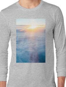 Sunset view above the clouds Long Sleeve T-Shirt