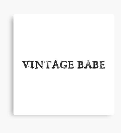 Vintage Babe Canvas Print