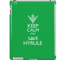 Keep Clam and Save Hyrule iPad Case/Skin