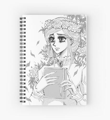 Edwardian manga girl with rowan bunch Spiral Notebook