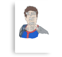 Liam Quote- Number Six in a Series Canvas Print