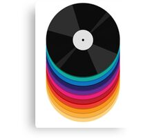 Rainbow Records Canvas Print