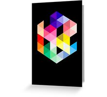 Geometric Color Cube Greeting Card