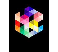 Geometric Color Cube Photographic Print