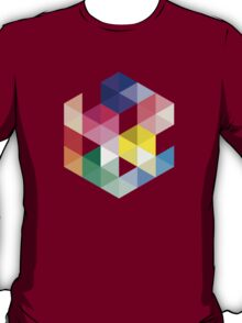 Geometric Color Cube T-Shirt