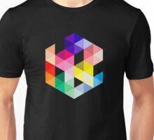 Geometric Color Cube Unisex T-Shirt