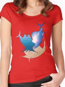 Sailfish Sun,Ocean,Sand  Women's Fitted Scoop T-Shirt