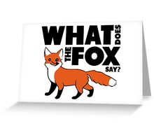 Ylvis The Fox Greeting Card