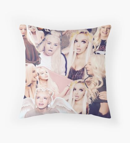 Tana Mongeau Collage Throw Pillow