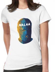 Malaa face art Womens Fitted T-Shirt