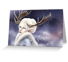 Ice elven Greeting Card