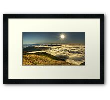 Sunrise from Mount Speculation Framed Print