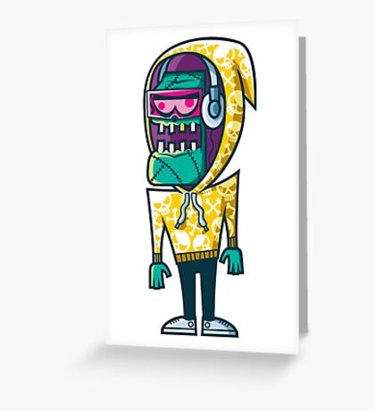 Graffiti Monster Greeting Card