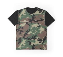 Jungle Camouflage - Green Graphic T-Shirt