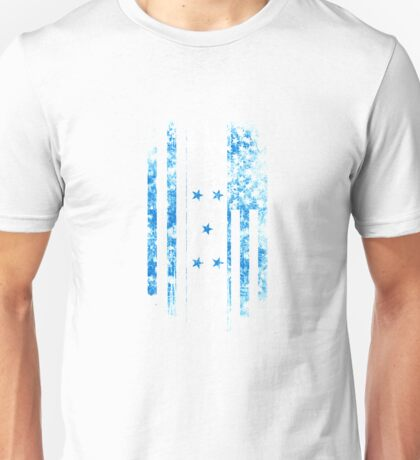 Honduras and America Flag Combo Distressed Design Unisex T-Shirt