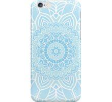 Blue ornamental background iPhone Case/Skin