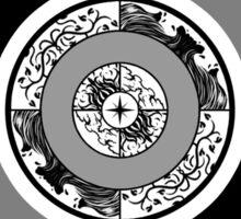 Spiritual Compass (black) Sticker