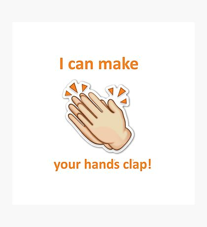 Handclap Emoji Photographic Print